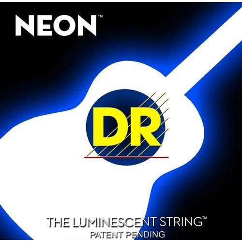 DR Strings DR Neon Acoustic String Set, White