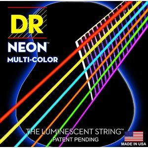 DR Neon Acoustic String Set, Multicolour