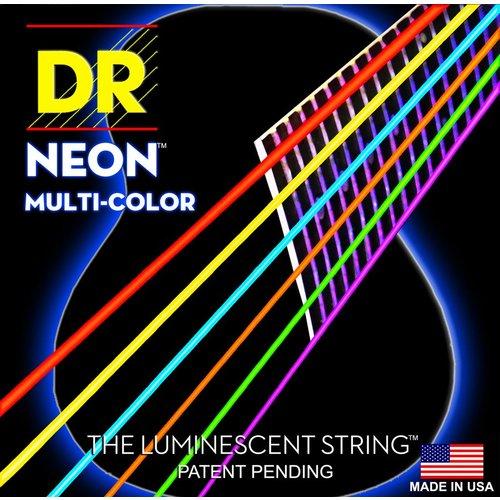 DR Strings DR Neon Acoustic String Set, Multicolour