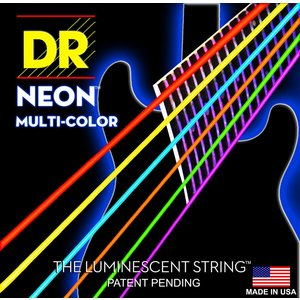 DR Neon Electric String Set, Multicolour