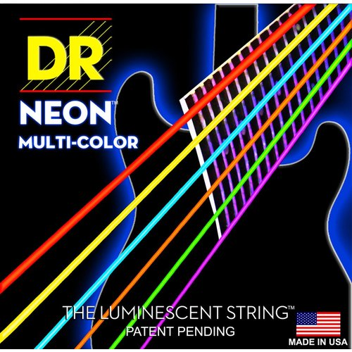 DR Strings DR Neon Electric String Set, Multicolour