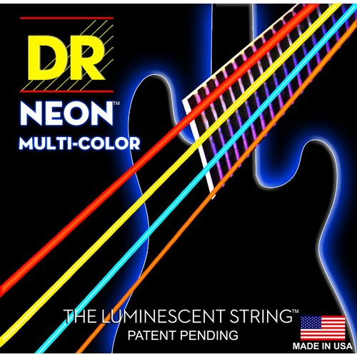 DR Strings DR Neon Bass String Set, Multicolour, .045-.105