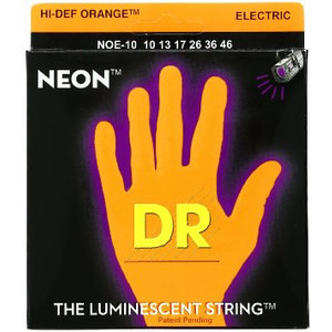 DR Neon Electric String Set, Orange
