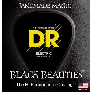 DR K3 Black Beauties Coated Acoustic String Set, .012-.054