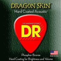 DR K3 Dragon Skin Coated Acoustic String Set