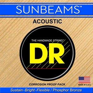 DR Sunbeam Round Core Acoustic String Set, Phosphor Bronze
