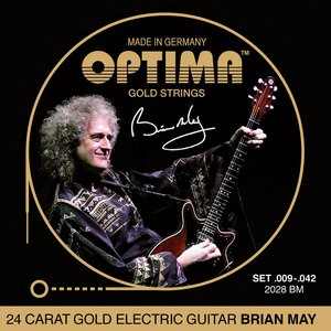 Optima Gold Brian May Electric Guitar String Set, 009-.042