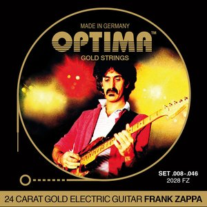Optima Gold Frank Zappa Electric Guitar String Set, .008-.046