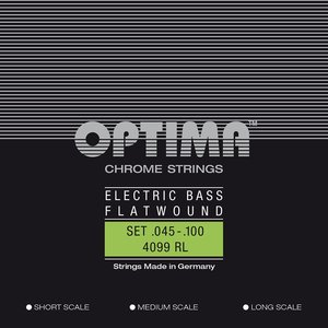 Optima 4099RL Flatwound Chrome Bass String Set, .045-.100