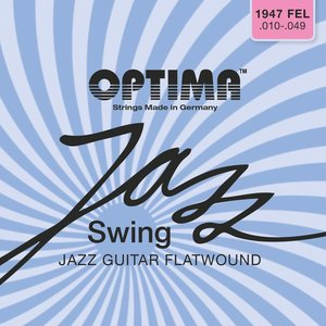 Optima Jazz Swing Chrome Electric Guitar String Set, Flatwound
