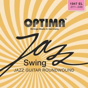 Optima Jazz Swing Chrome Electric Guitar String Set