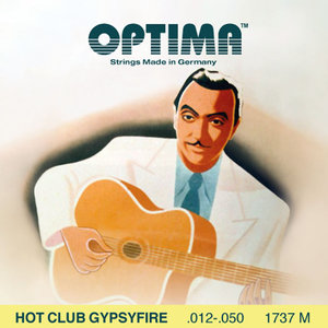 Optima Hot Club Gypsyfire 1757M Acoustic String Set, Silverplated, .012-.050, Loop End