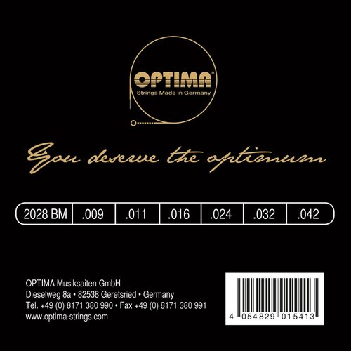 Optima Optima Gold Brian May Electric Guitar String Set, 009-.042
