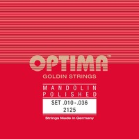 Optima Mandolin String Set, Goldin Specially Polished, Loop End, .010-.036