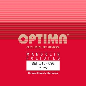 Optima Mandolin String Set, Goldin Specially Polished, Loop End, .010-.036