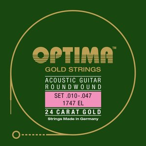 Optima Gold 12-String Acoustic String Set, .010-.045