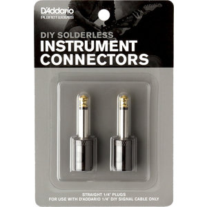 "Planet Waves Cable Station 1/4"" Plug Straight, 2-Pack"