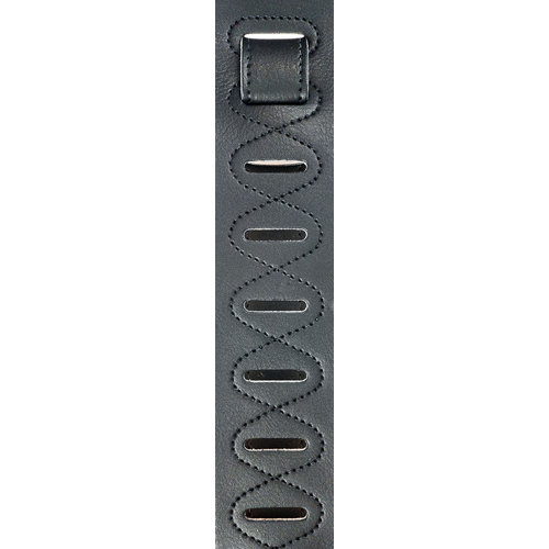 Planet Waves Planet Waves Soft Garment Leather Guitar Strap - Black