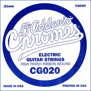 D'Addario XL Chromes Single String, Flat Wound