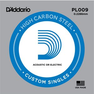 D'Addario Single String, Plain Steel