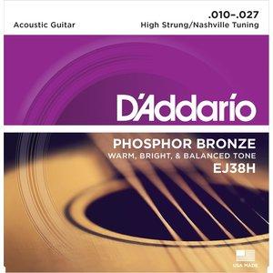 D'Addario Nashville Tuning String Set, Phosphor Bronze, EJ38H .010-.027