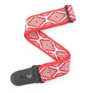 "D'Addario 2"" Guatemalan Guitar Strap - Red"
