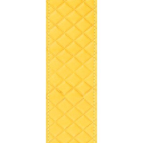 "D'Addario D'Addario 2"" Leather Embossed Guitar Strap - Yellow Square Design"