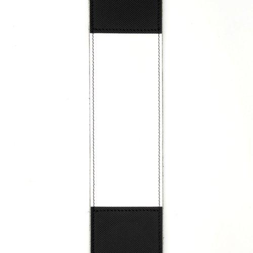 "D'Addario D'Addario 2.5"" Leather Guitar Strap Horizontal Stripe, Black and White"