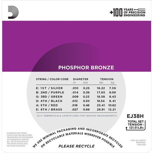 D'Addario D'Addario Nashville Tuning String Set, Phosphor Bronze, EJ38H .010-.027