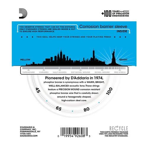 D'Addario D'Addario Acoustic Bass String Set, Phosphor Bronze, EPBB170 .045-.100