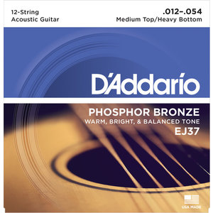 D'Addario 12-String Guitar String Set, Phosphor Bronze