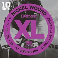 D'Addario XL 10-Pack Electric Guitar String Set