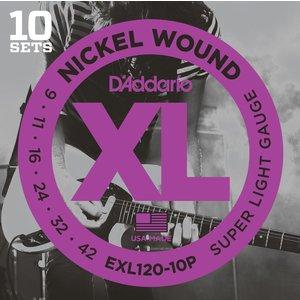 D'Addario XL 10-Pack Electric Guitar String Set