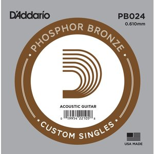 D'Addario Single String, Phosphor Bronze