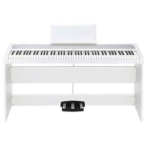 Korg B1 Digital Piano w/ 3-Pedal Stand, White