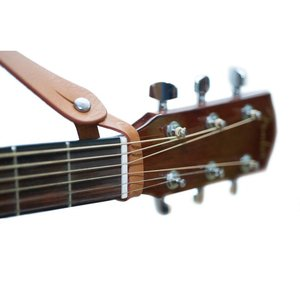 RightOn! Neck Straplink Acoustic Guitar Strap Button, Brown