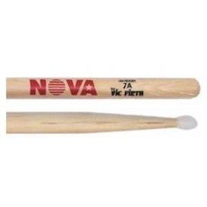 Vic Firth Nova Hickory Drumstick, Nylon Tip, 5A