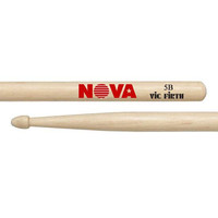 Vic Firth Nova Hickory Drumstick, Wood Tip, 2B