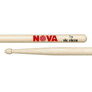 Vic Firth Nova Hickory Drumstick, Wood Tip, 7A