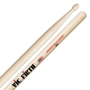Vic Firth American Classic Hickory Drumstick, Wood Tip, 5A