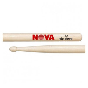 Vic Firth Nova Hickory Drumstick, Wood Tip, 5A