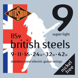 Rotosound British Steels Electric Guitar String Set
