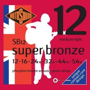Rotosound Super Bronze Acoustic Guitar String Set, Phosphor Bronze