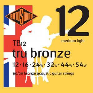 Rotosound True Bronze Acoustic Guitar String Set, 80/20 Bronze