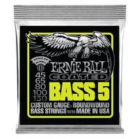 Ernie Ball Coated 5-String Bass Guitar String Set, .045-.130