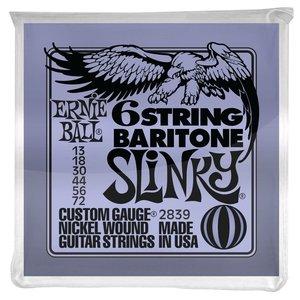 Ernie Ball Baritone Slinky Guitar String Set, .013-.072