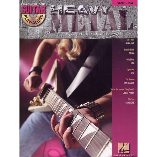 Hal Leonard Guitar Play-Along Volume 54: Heavy Metal (Book and CD)
