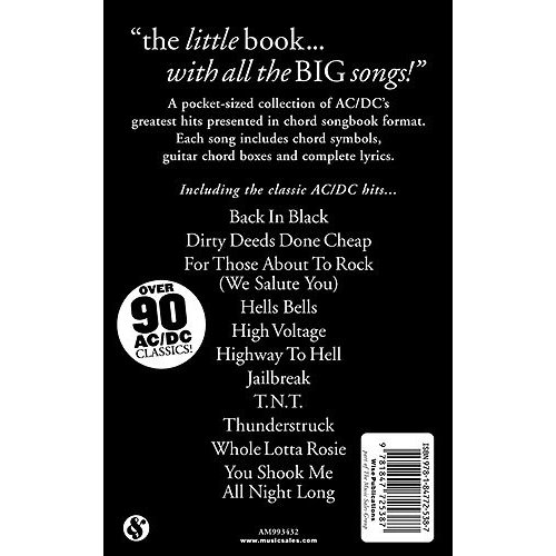 Music Sales The Little Black Songbook: AC/DC
