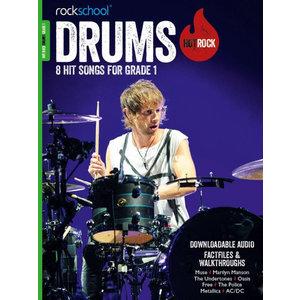 Rockschool: Hot Rock Drums - Grade 1 (Book/Download Card)