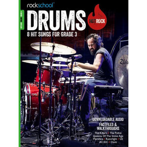 Rockschool: Hot Rock Drums - Grade 3 (Book/Download Card)